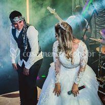 Casal no palco