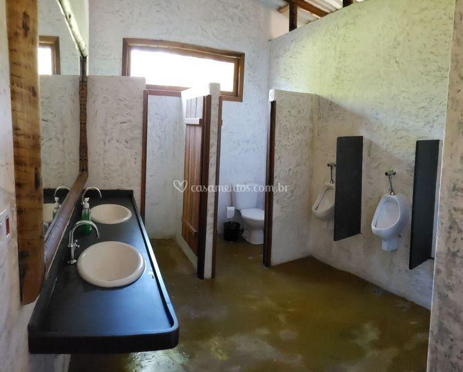 Banheiro do salão masculino
