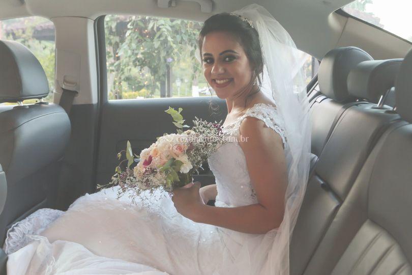 Noiva e o lindo buquê