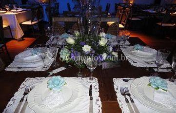 Mesa personalizada dos noivos