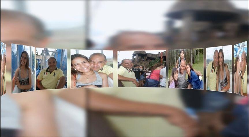 Transição com várias fotos