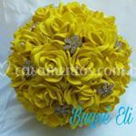 Buque de noiva amarelo