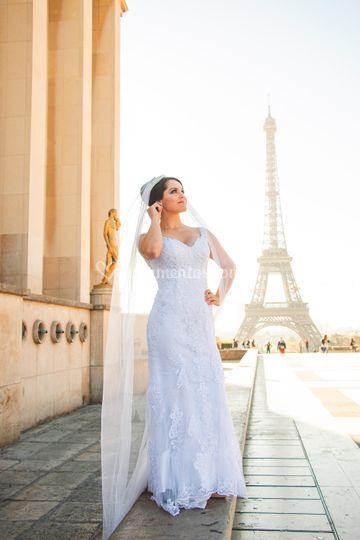 Editorial de noivas em Paris