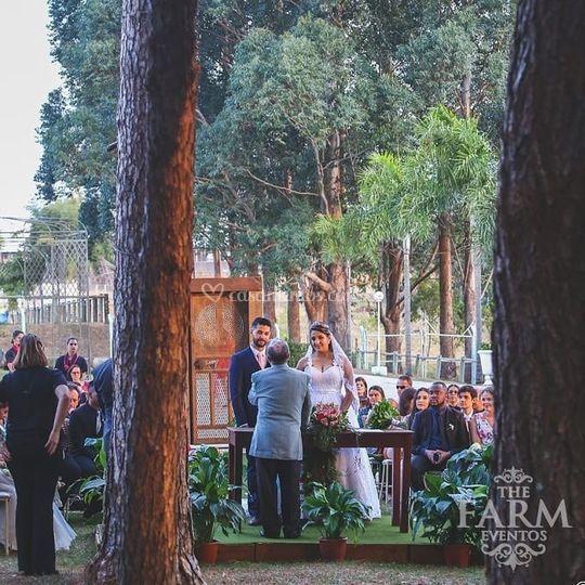 Cerimonia ao ar livre The Farm