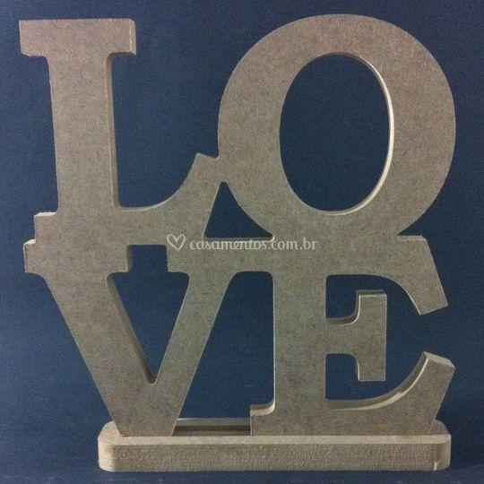 Love Letras em mdf