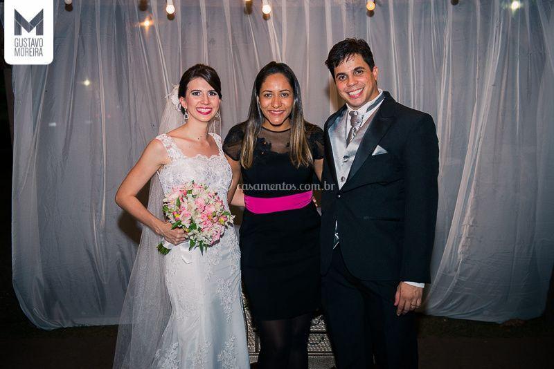 A fada madrinha e os noivos