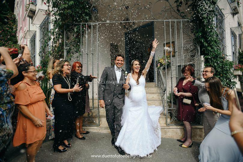 As bençãos para os noivos