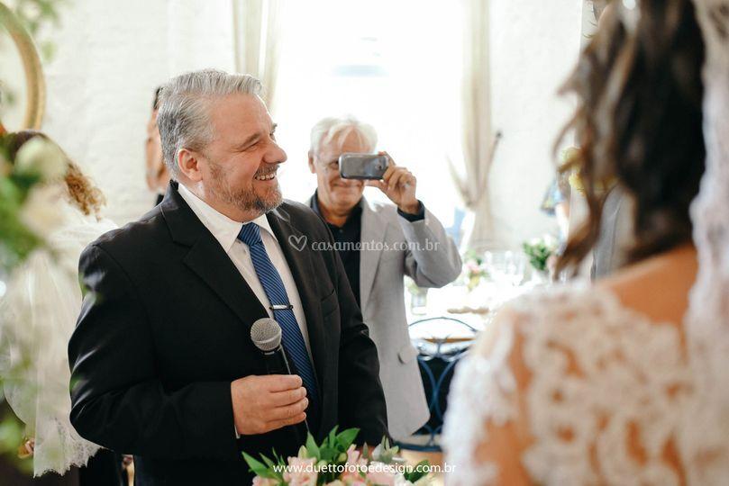 A leveza na cerimonia