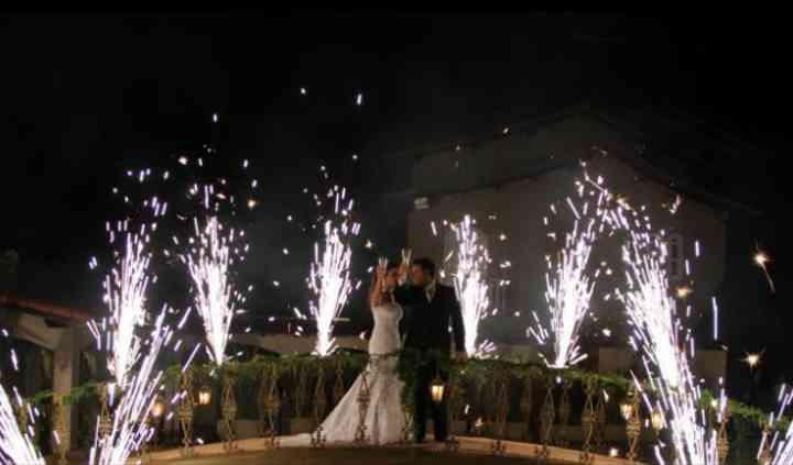 Fogos de artifício em casamento
