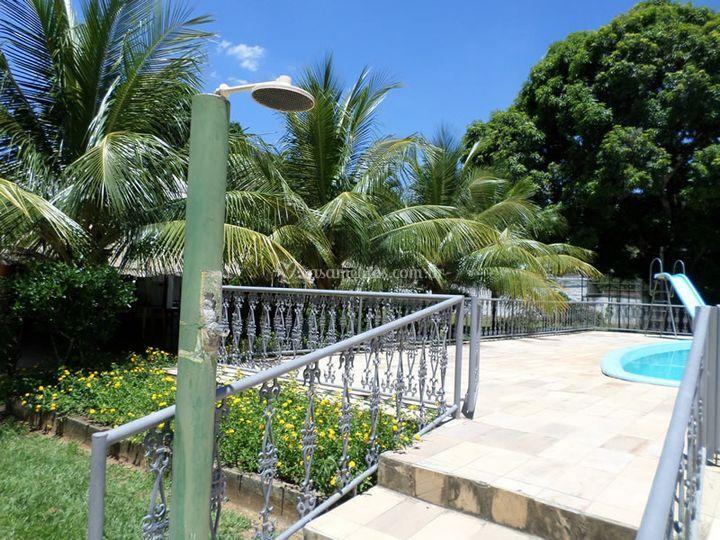 Entrada piscina de s tio chap u de couro foto 19 for Entrada piscina