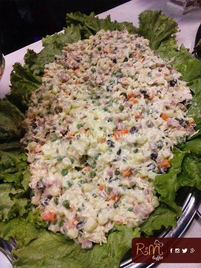 Buffet completo de saladas