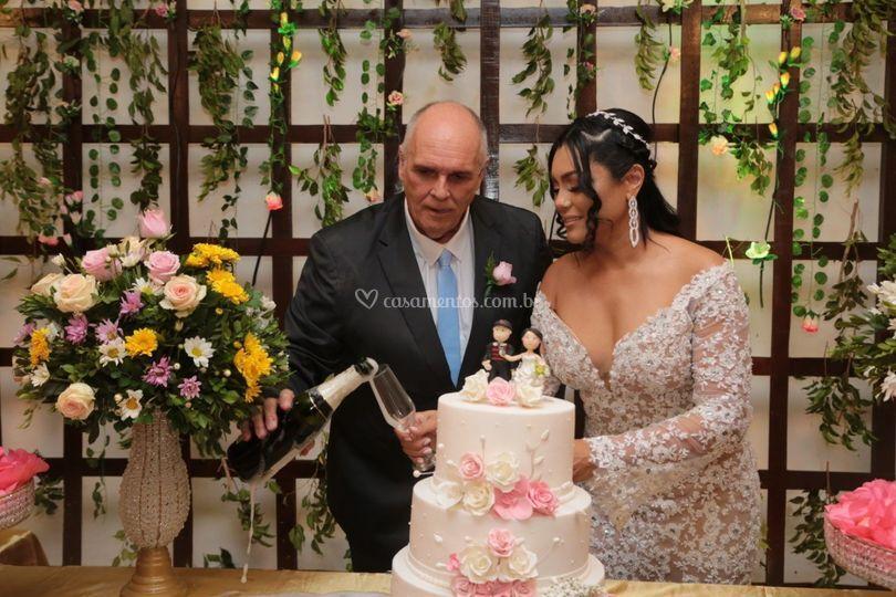 Noivos Sylvia e Claudio