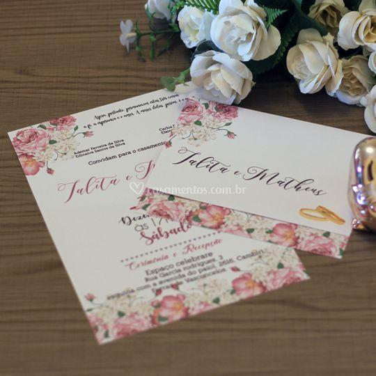 Convites Simples Floral