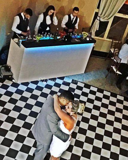 Pausa para dança dos Noivos
