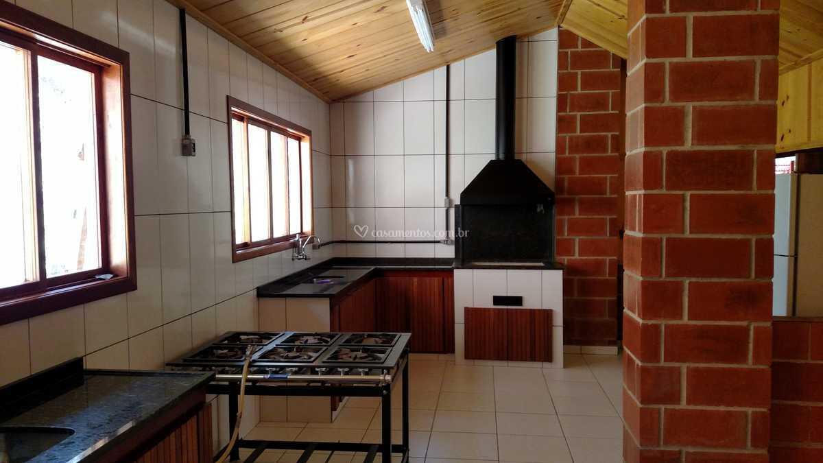 Cozinha Com Fog O Industrial De S Tio Bello Verde Foto 4