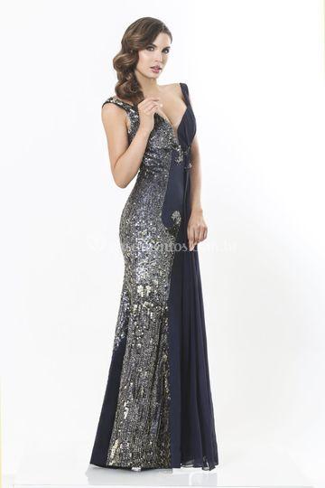 Vestido longo charmoso