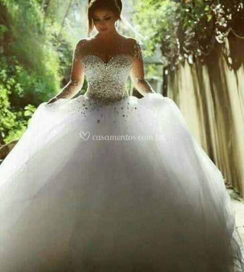 Vestido princesa c swairowisk