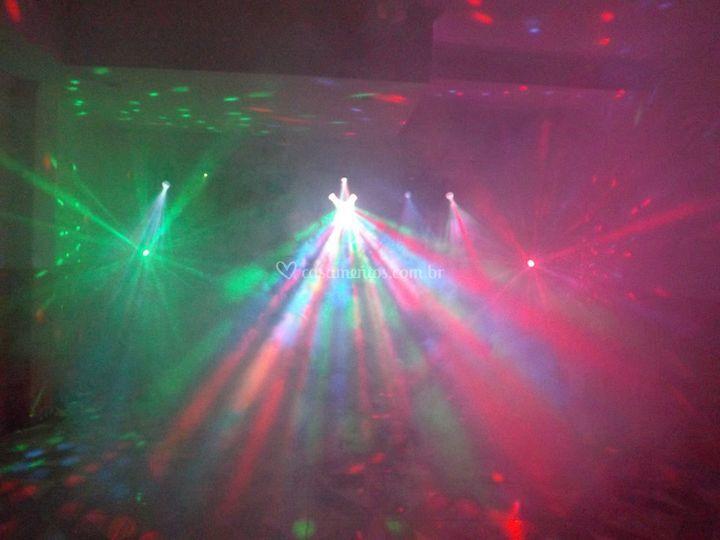 Iluminação multi colorida