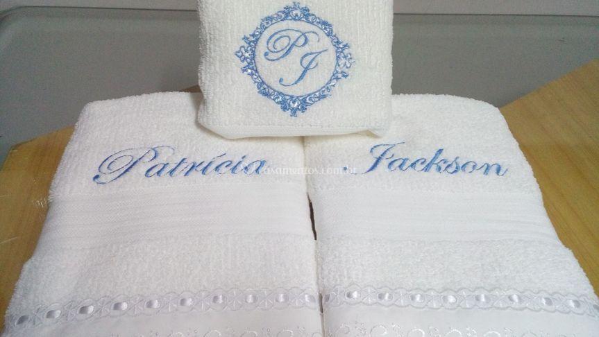 Jogo de toalha personalizada