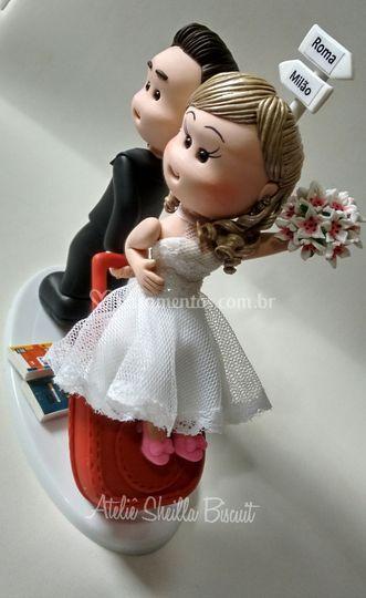 Noiva  mala vermelha