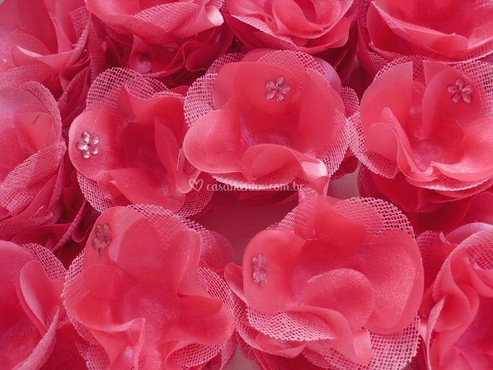 Flor cetim/tela