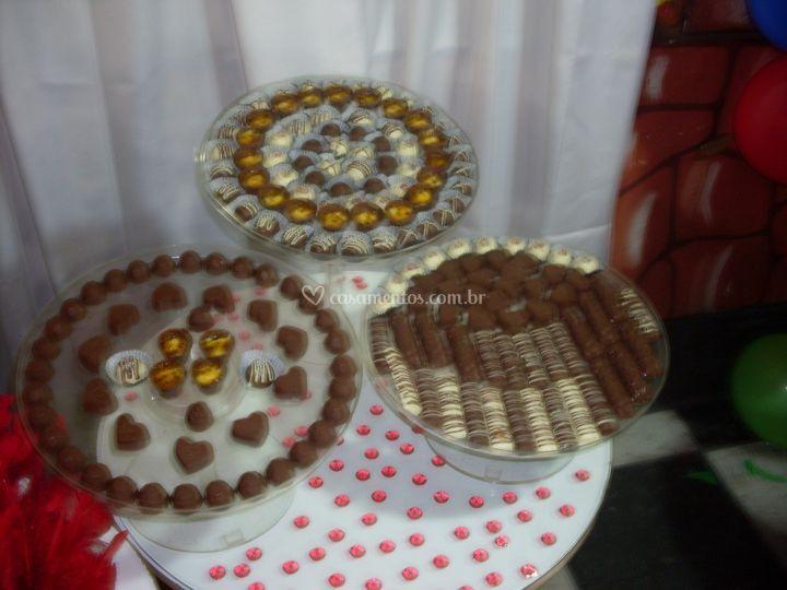 Mesa de chocolates