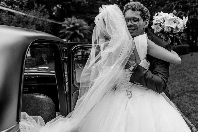 Abraço da noiva