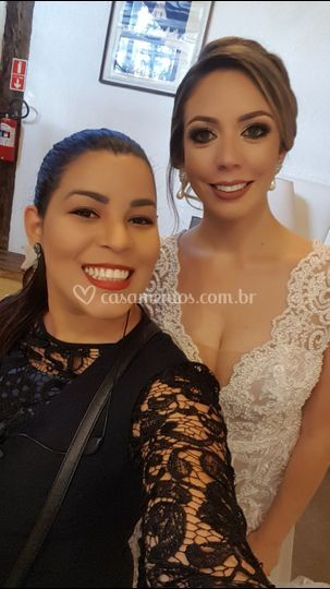 Foto com a noiva