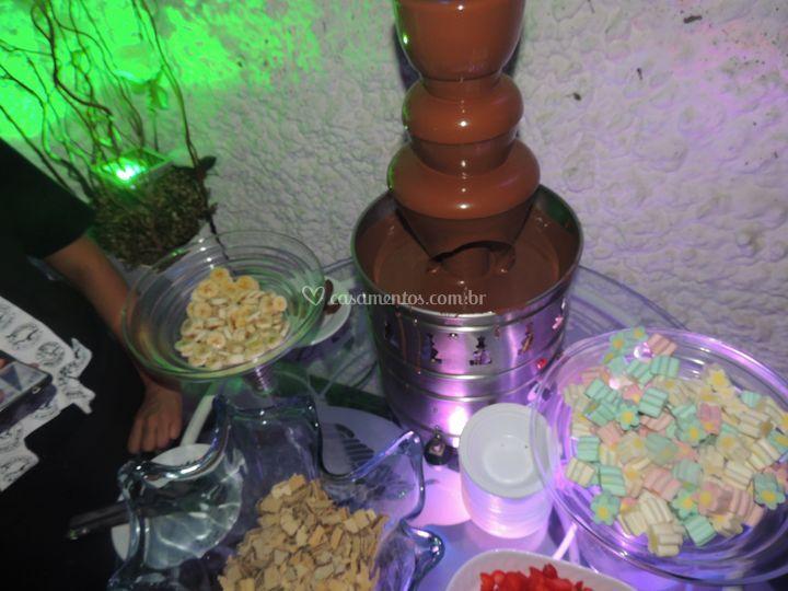 Cascata de chocolate Buffet