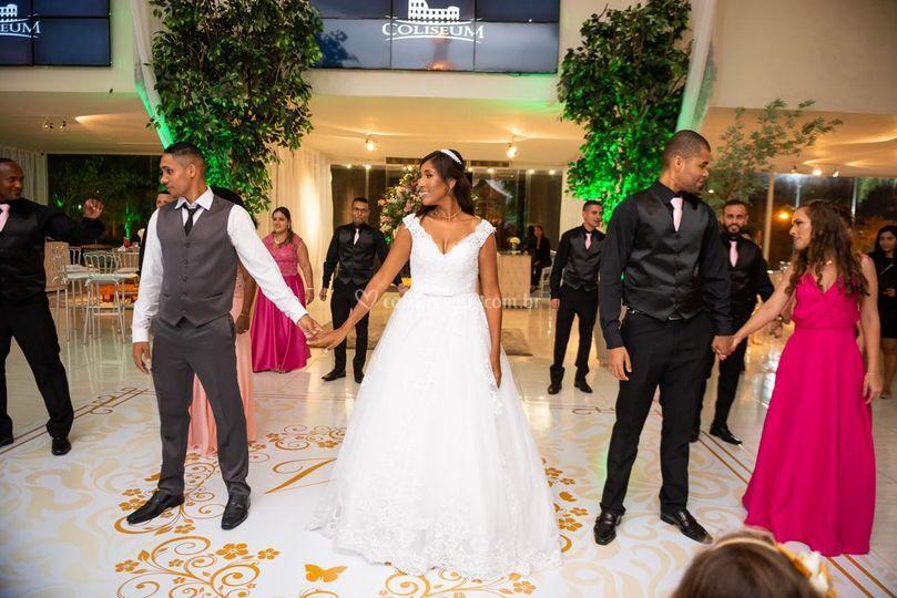 Dança dos noivos padrinhos