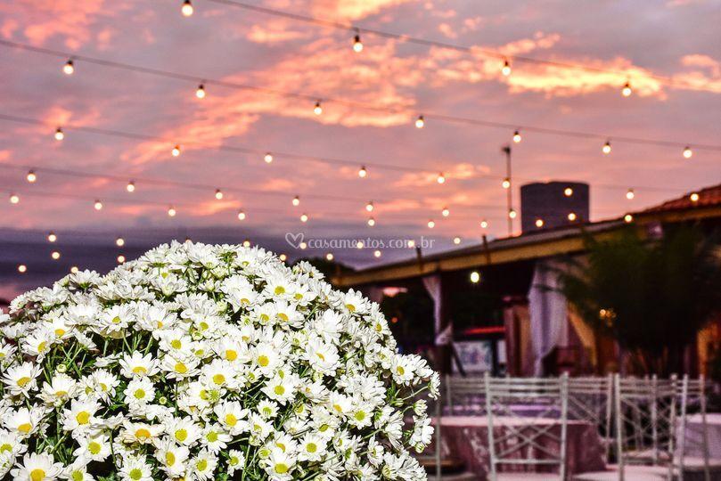 Flores a bela da decoração