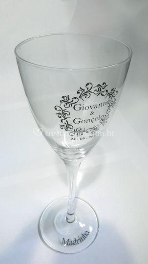Taça de Vidro personalizada