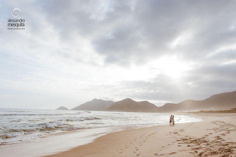 Noivado na praia