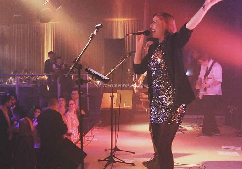 Mandarina no palco!
