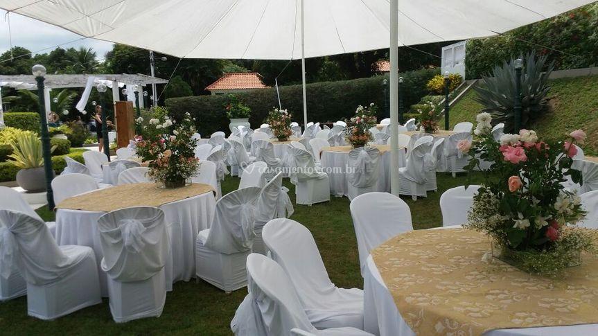 Sitio decorado para casamento
