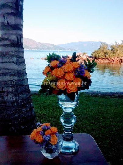 Flores e mar...