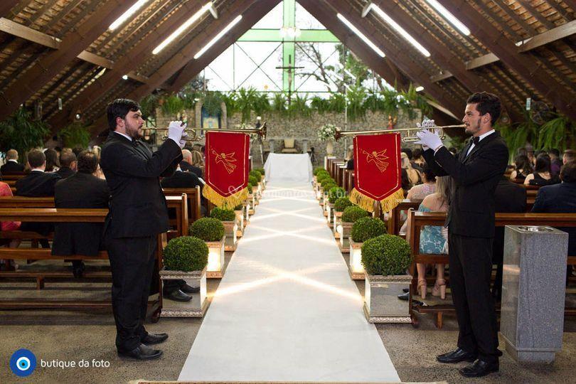 Anuncio de início da cerimônia