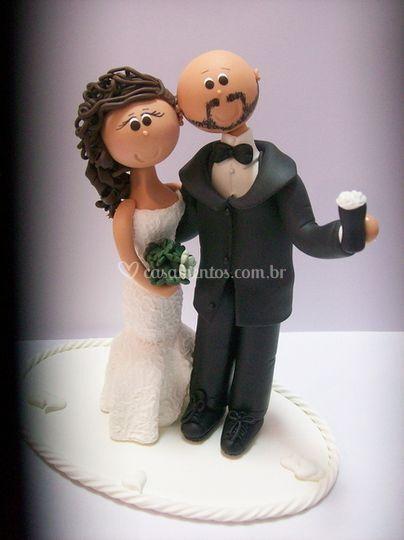 Casal topo de bolo