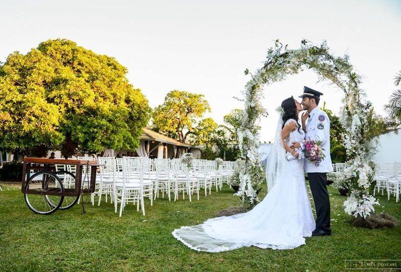 Casando no por do sol
