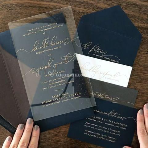 Convite co e envelope especial