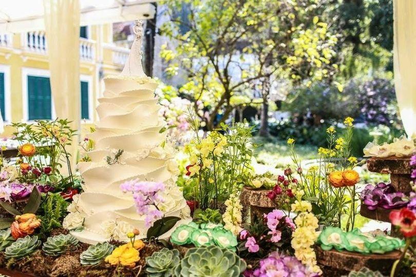 Mesa dos doces Jardim