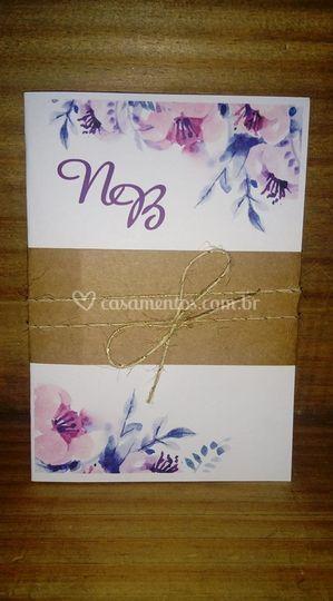 Convite floral lilas