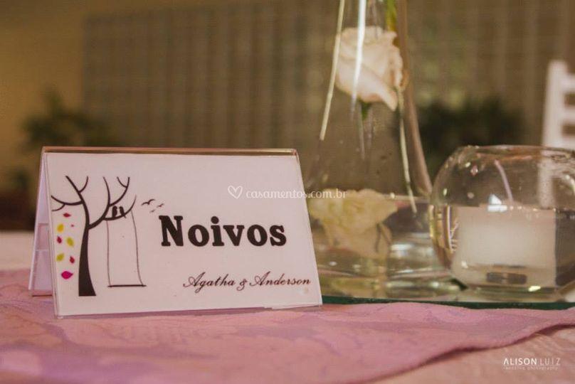 Reserva mesa dos noivos