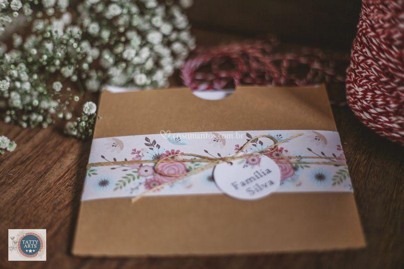 Convite Envelope Floral