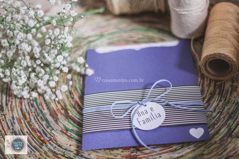 Convite Envelope Coração