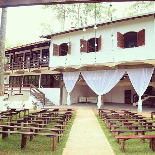 Vista do Lounge e Cerimônia