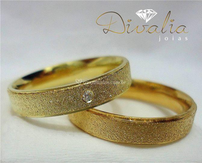 Alianças noivado/casamento de Divalia Jóias