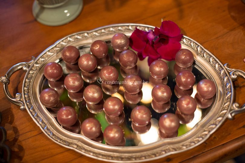 Esferas de caramelo