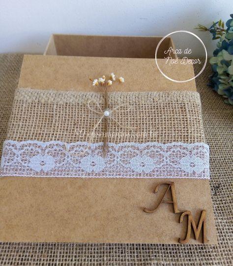 Caixa convite MDF personalizad