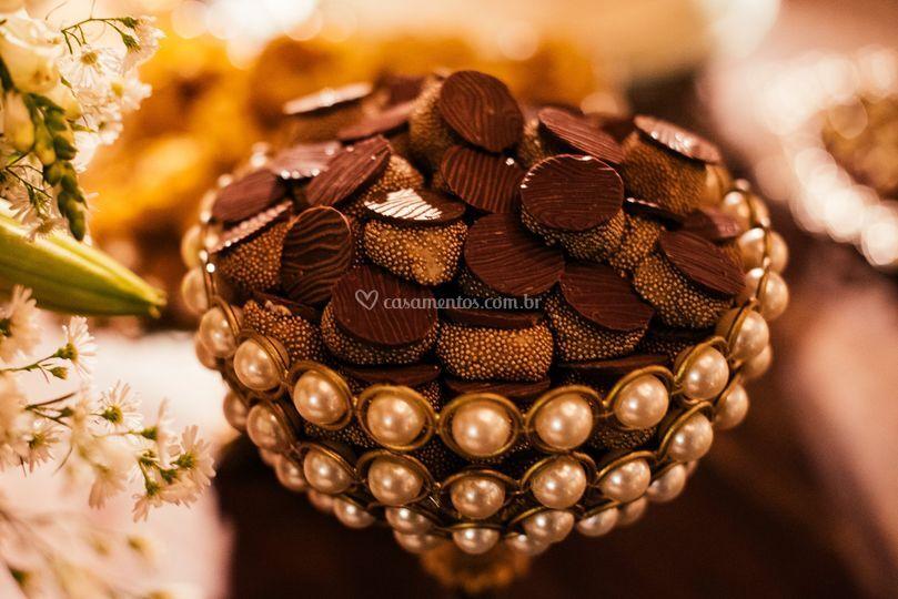 Medalhao de chocolate